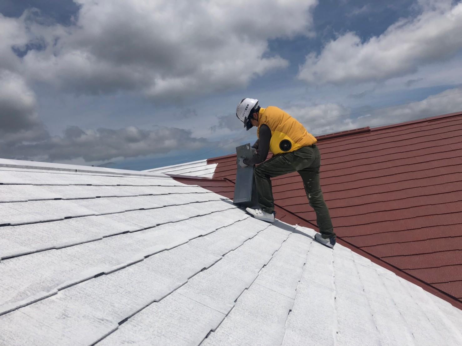 屋根 中塗り (2)