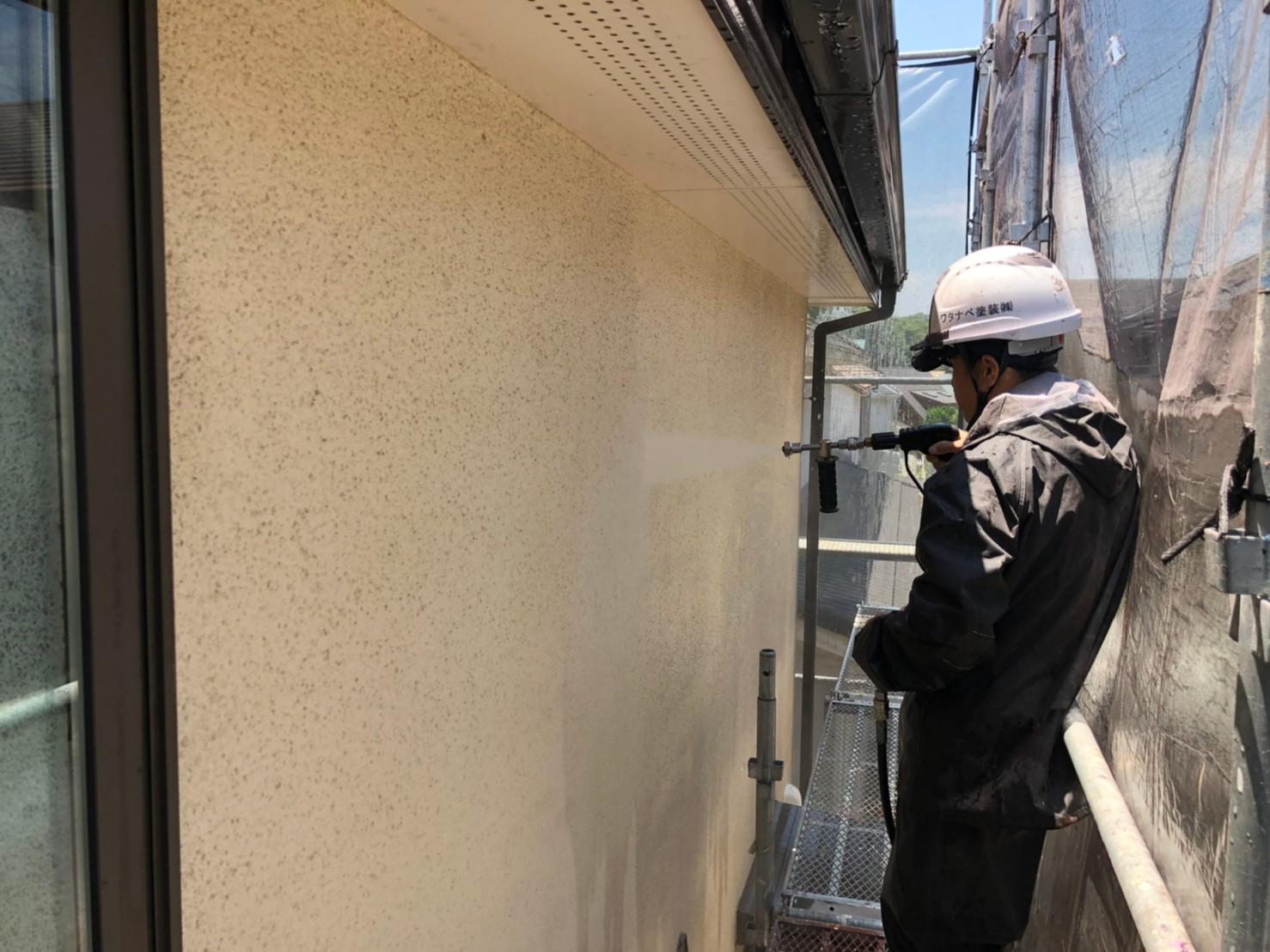 壁 高圧洗浄 (2)