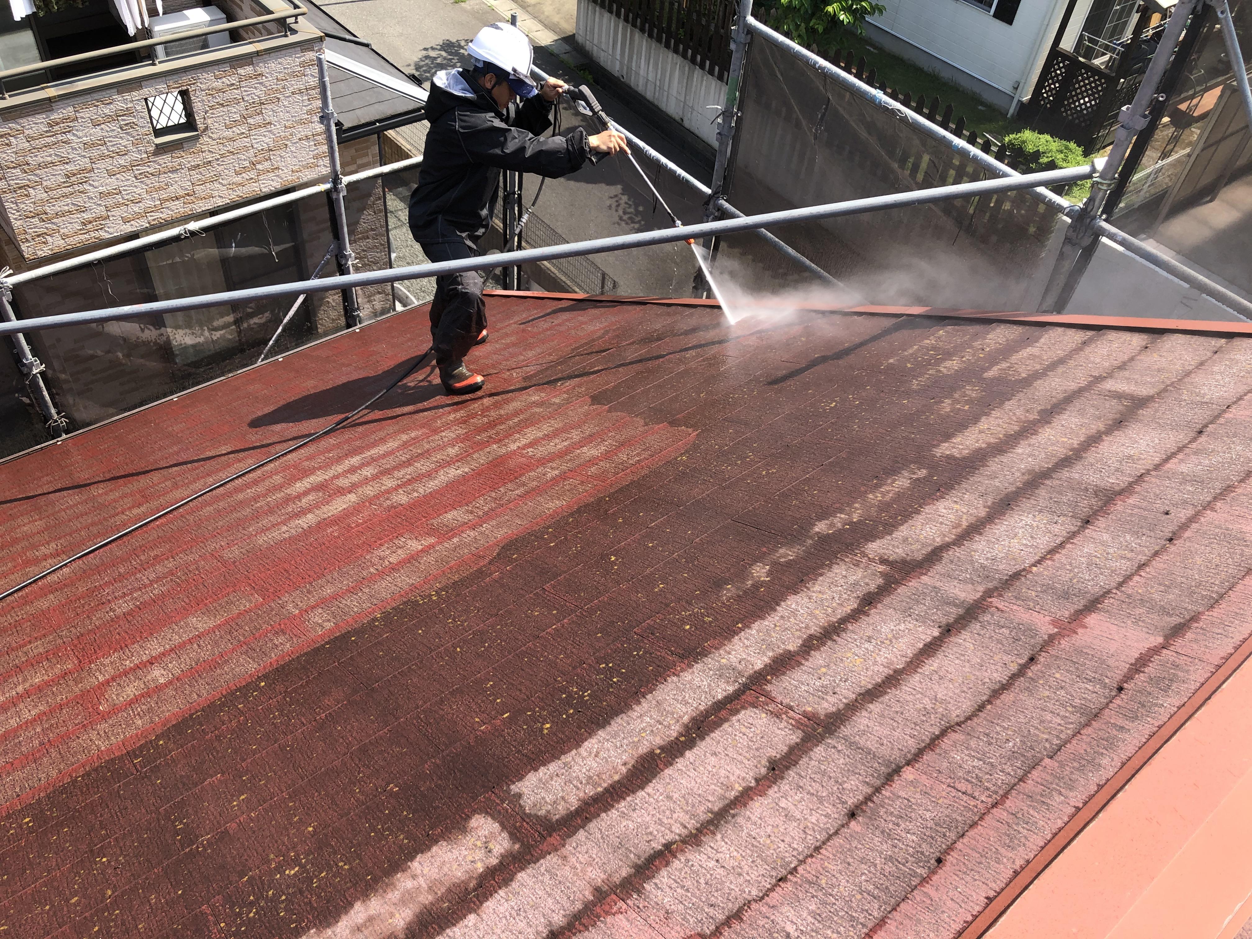 屋根 高圧洗浄 (4)