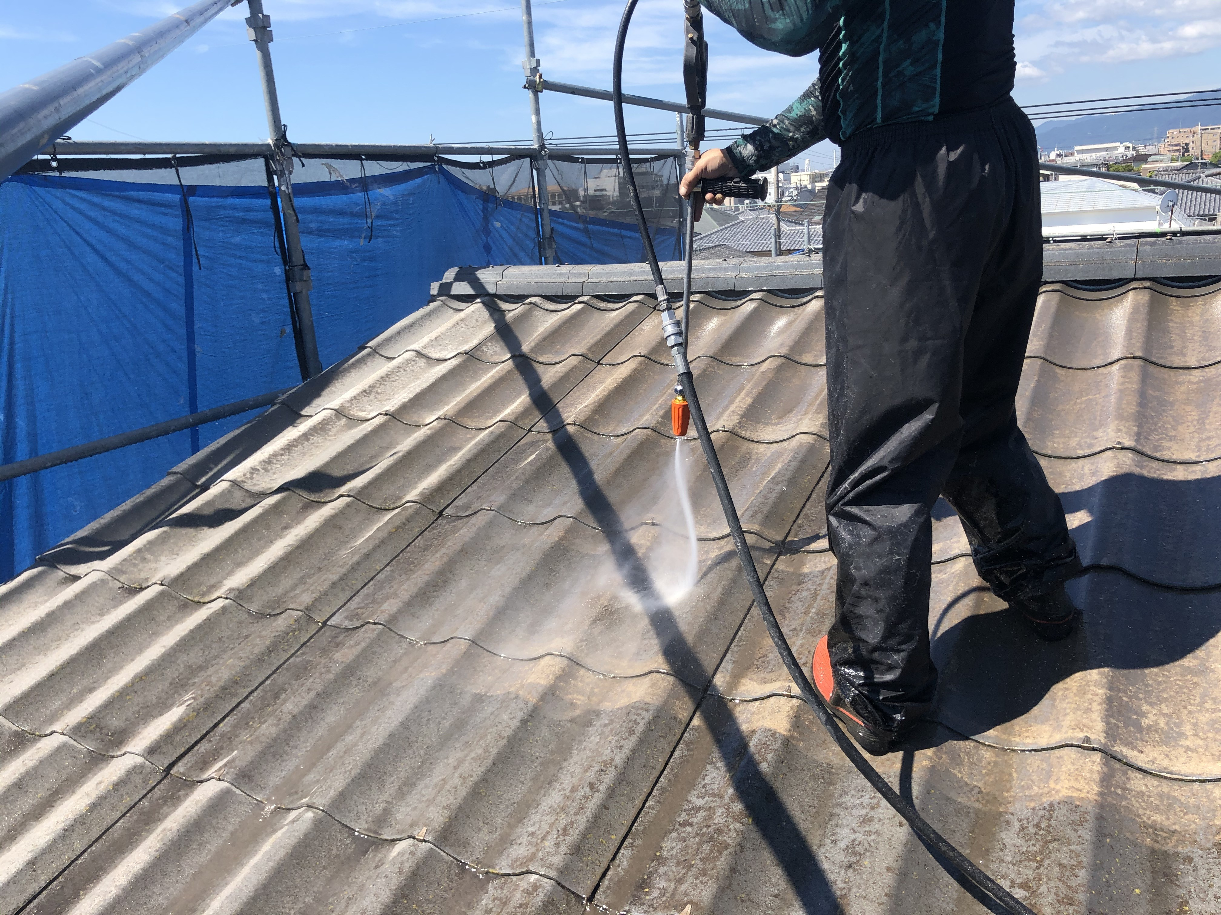 屋根 高圧洗浄 (3)
